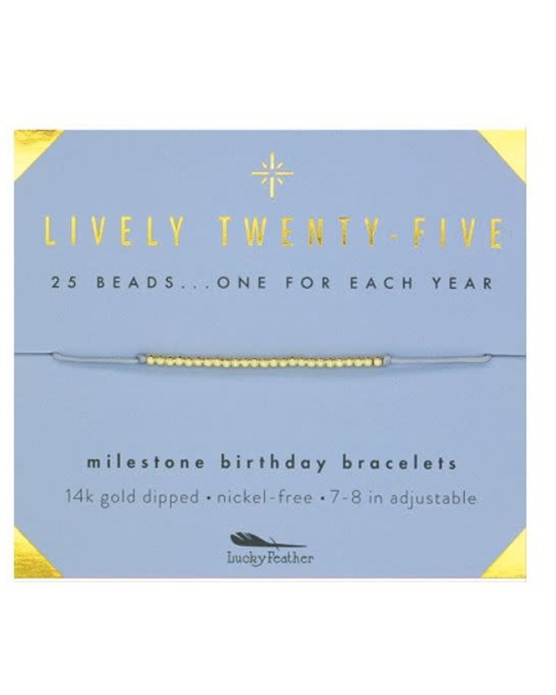Lucky Feather Lucky Feather Milestone Birthday Bracelet - Lively Twenty-Five