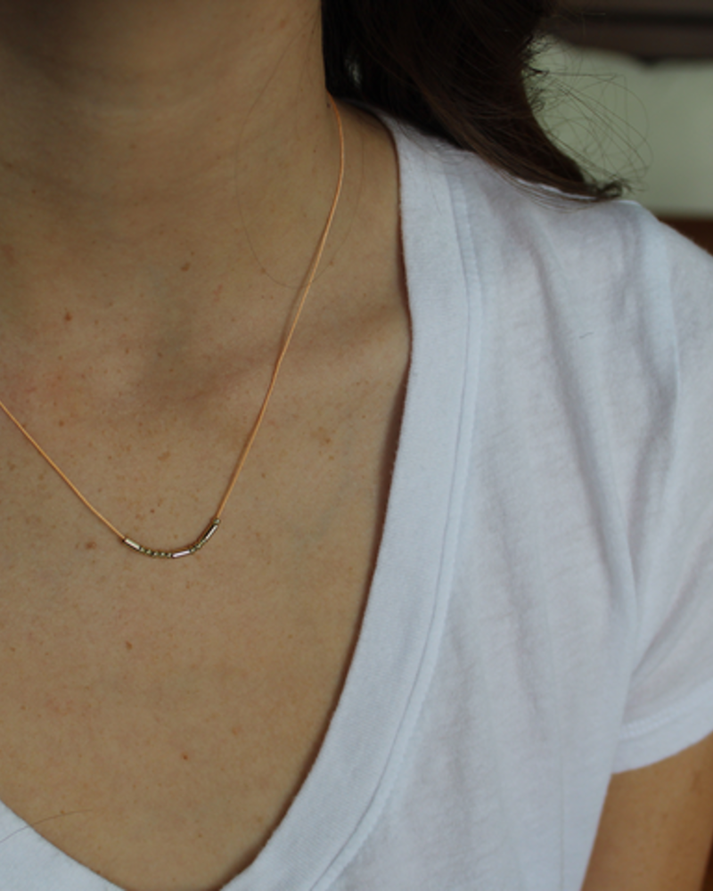 Lucky Feather Lucky Feather Morse Code Necklace | BFF