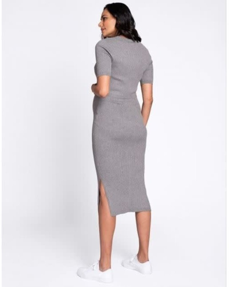 Seraphine Maternity Seraphine Maternity 'Amaya' Crew Neck Layered Knit Dress