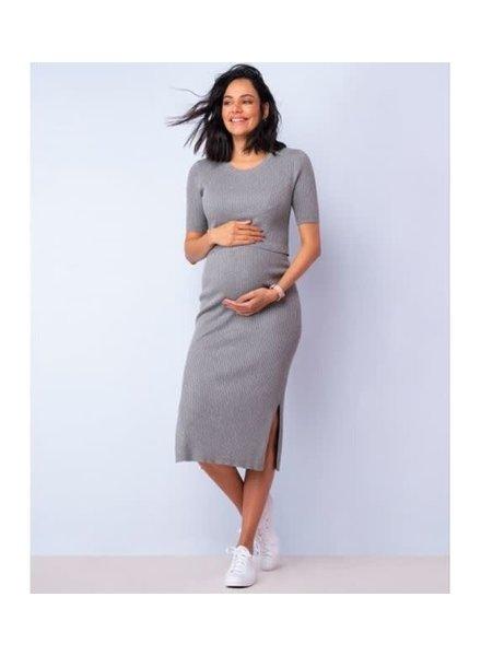 Seraphine Maternity 'Amaya' Crew Neck Layered Knit Dress