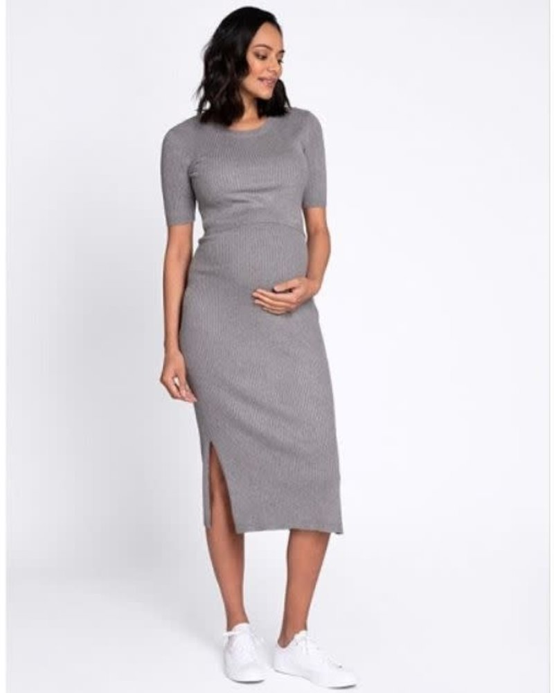 Seraphine Maternity Seraphine Maternity 'Amaya' Crew Neck Layered Knit Dress