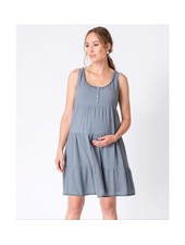 Seraphine Maternity Blue 'Brandie' Tiered Summer Dress