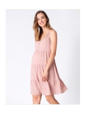 Seraphine Maternity Pink 'Brandie' Tiered Summer Dress