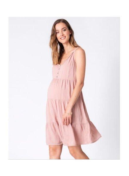Seraphine Maternity Pink 'Brandie' Tiered Summer Dress