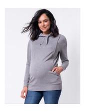 Seraphine Maternity Grey 'Pernella' Maternity/Nursing Hoodie