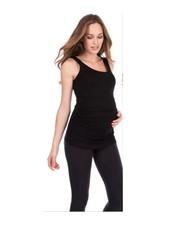 Seraphine Maternity Black 'Aniza' Maternity/Nursing Tank