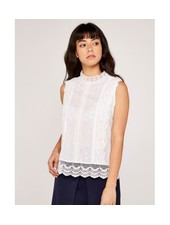 Apricot 'Headed To The Top' High Neck Lace Top