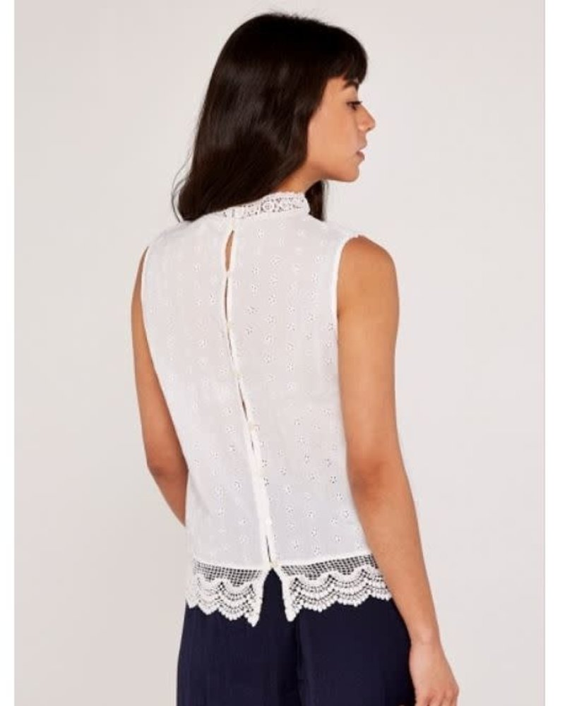 Apricot Apricot 'Headed To The Top' High Neck Lace Top