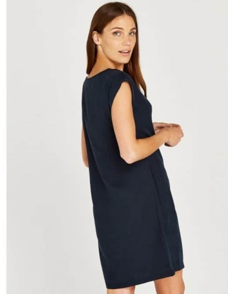 Apricot Apricot '2 Is Better Than 1' Double Pocket Roll Sleeve Dress