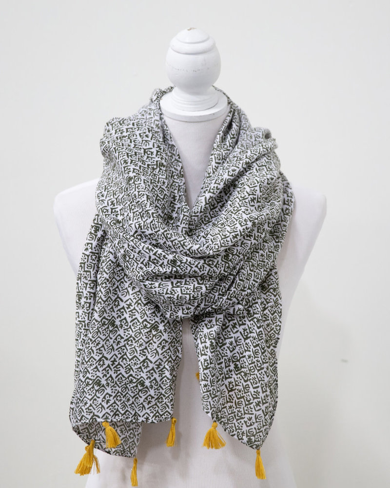 Funky Monkey Funky Monkey 'Give Me A Sign' Summer Scarf