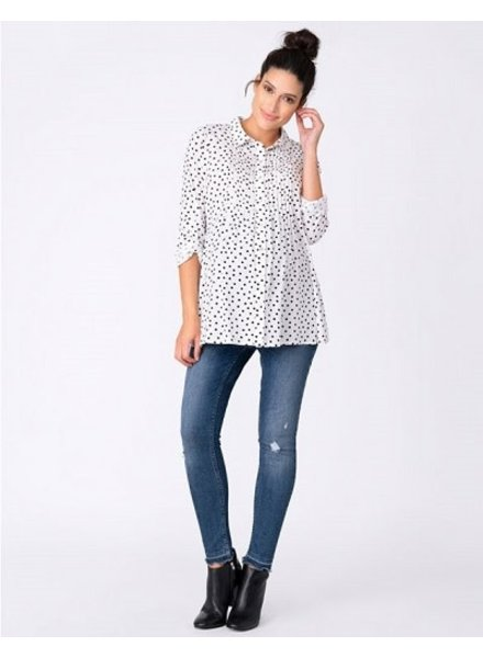 Seraphine Maternity 'Happy' Dotty Woven Button Down