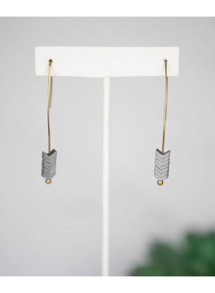 Lauren Lane Arrow Wire Dangle Earrings (More Colors)