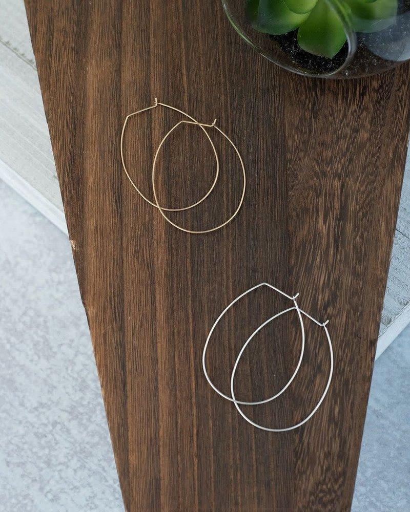 Lauren Lane Lauren Lane 'Amelia' Hoop Earrings