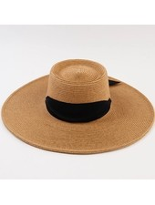 Lucca Couture 'Caspian' Boater Hat | Black Sash