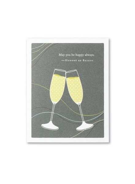 Compendium Wedding Card   'May You Be Happy Always'