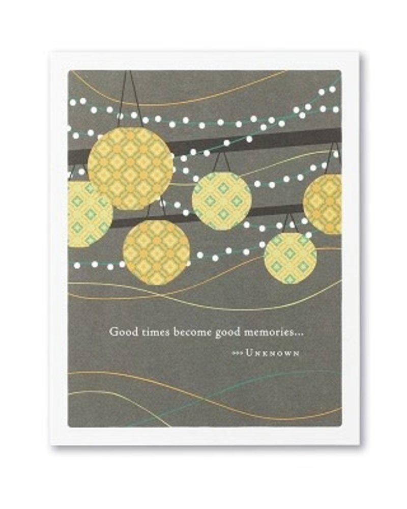 Compendium Compendium Card 'Good Times Become Good Memories'