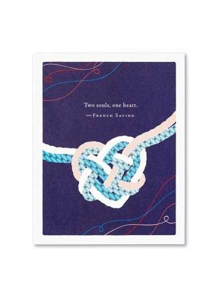 Compendium Wedding Card   'Two Souls, One Heart'