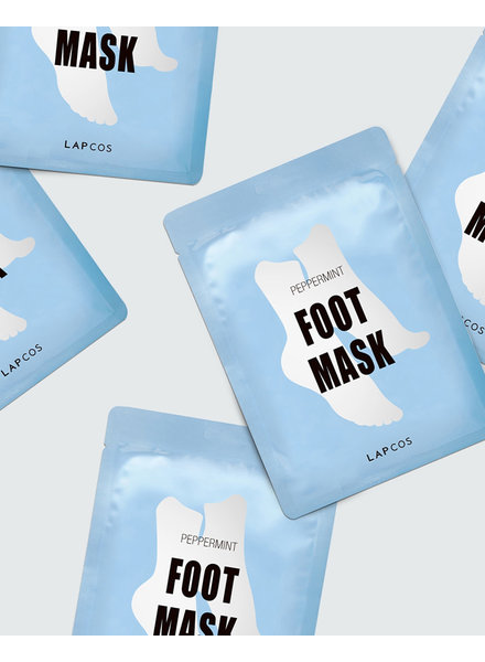 Lapcos Peppermint Foot Mask Set (Pack of 5)