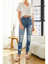 Kancan 'Tess' High Rise Super Skinny Jeans