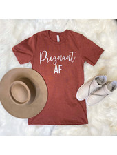 FAMS Design Heather Clay 'Pregnant AF' Tee