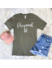 FAMS Design Heather Olive 'Pregnant AF' Tee