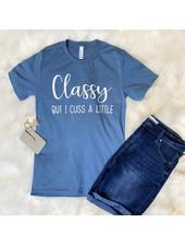 FAMS Design Heather Slate 'Classy But I Cuss A Little' Tee