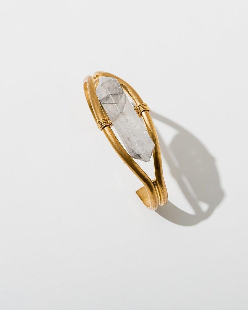 Larissa Loden Larissa Loden Crystal Cuff Bracelet | Gold