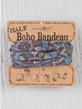 Natural Life Half Boho Bandeau in Blue & Cream Mandala