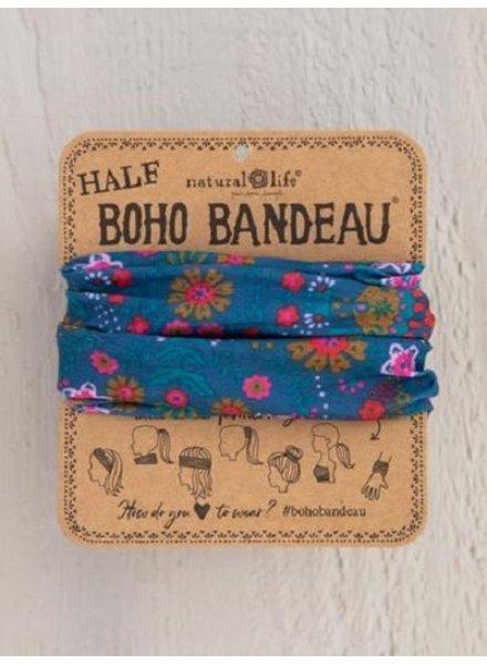 Natural Life Half Boho Bandeau in Indigo Floral Mandala