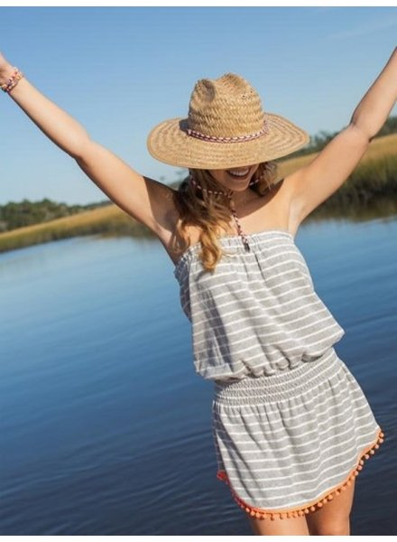 Natural Life Grey Stripe Ava' Cover-Up Dress