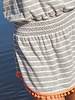 Natural Life Natural Life Grey Stripe 'Ava' Cover-Up Dress **FINAL SALE**