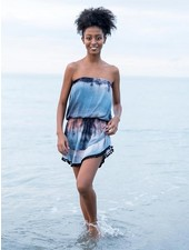 Natural Life Navy Tie-Dye  'Ava' Cover-Up Dress