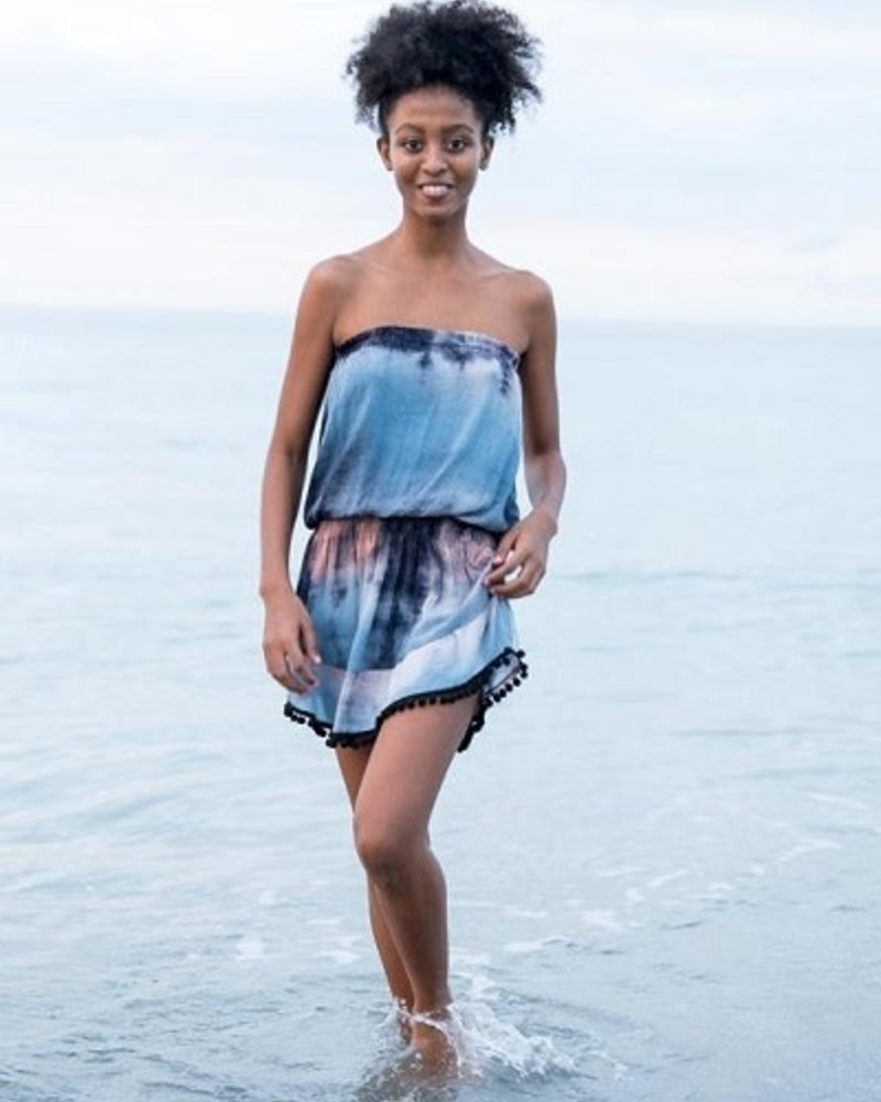 Natural Life Natural Life Navy Tie-Dye  'Ava' Cover-Up Dress **FINAL SALE**