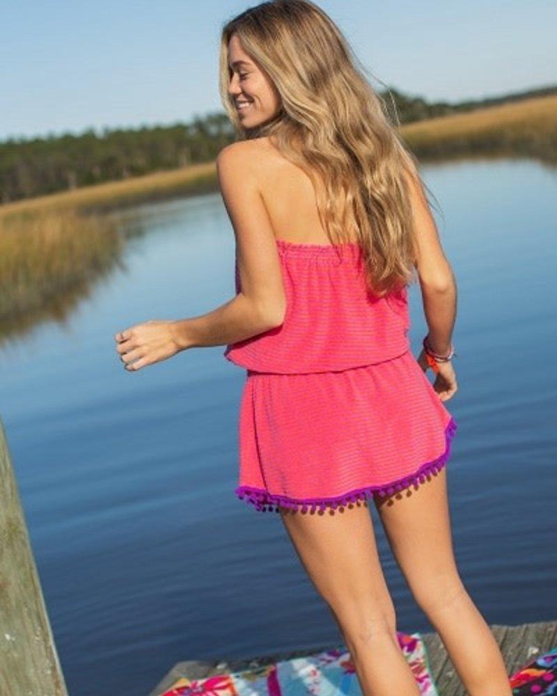 Natural Life Natural Life Pink Stripe 'Ava' Cover-Up Dress  **FINAL SALE**