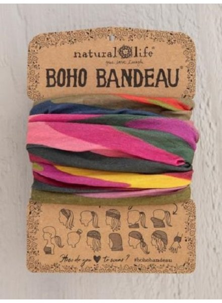 Natural Life Boho Bandeau in Abstract Blue