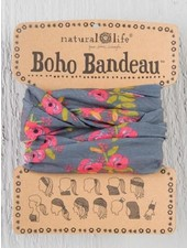 Natural Life Boho Bandeau in Charcoal Blooms