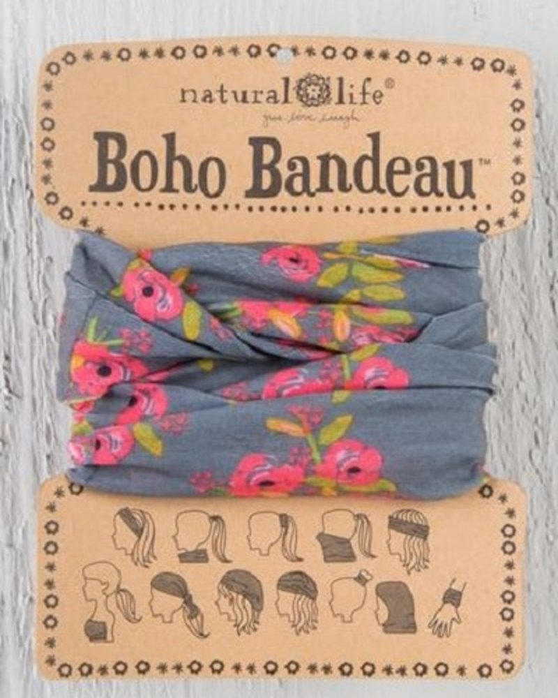 Natural Life Natural Life Boho Bandeau in Charcoal Blooms