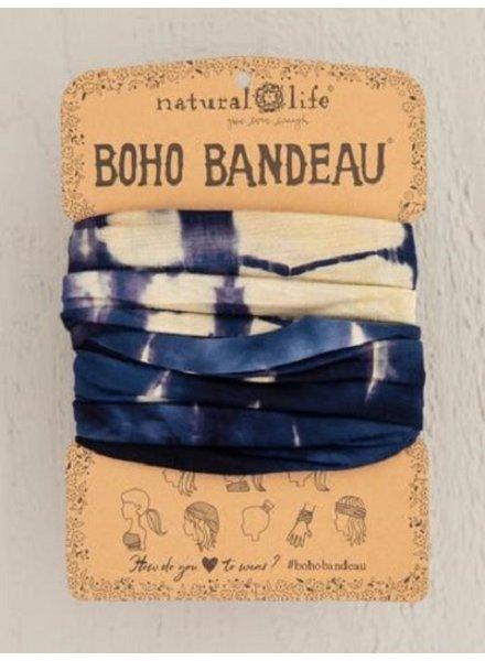 Natural Life Boho Bandeau in Cream Navy Tie-Dye