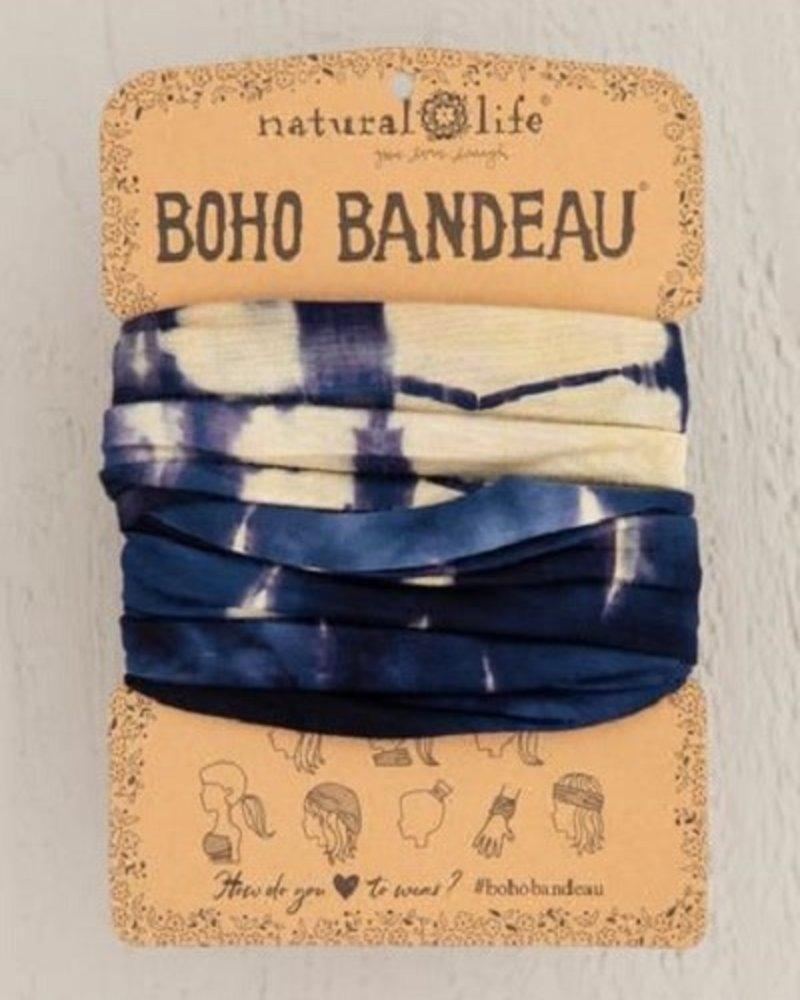 Natural Life Natural Life Boho Bandeau in Cream Navy Tie-Dye