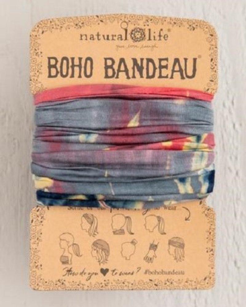 Natural Life Natural Life Boho Bandeau in Grey & Coral Tie-Dye