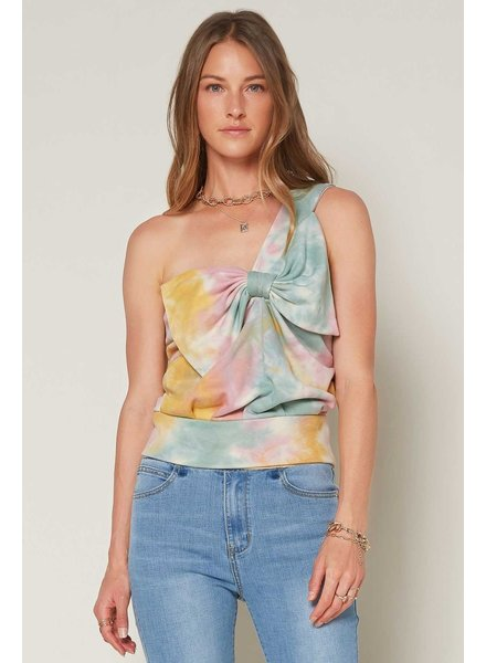 Current Air 'Tie Me a River' One Shoulder Top