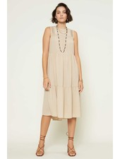 Current Air 'What the Tuck' Crinkled Pintuck Midi Dress