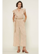 Current Air 'Field of Flowers' Crystal Pleat Jumpsuit