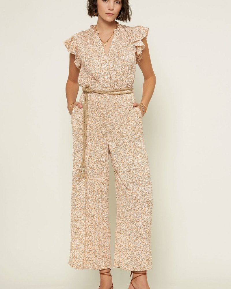 Current Air Current Air 'Field of Flowers' Crystal Pleat Jumpsuit