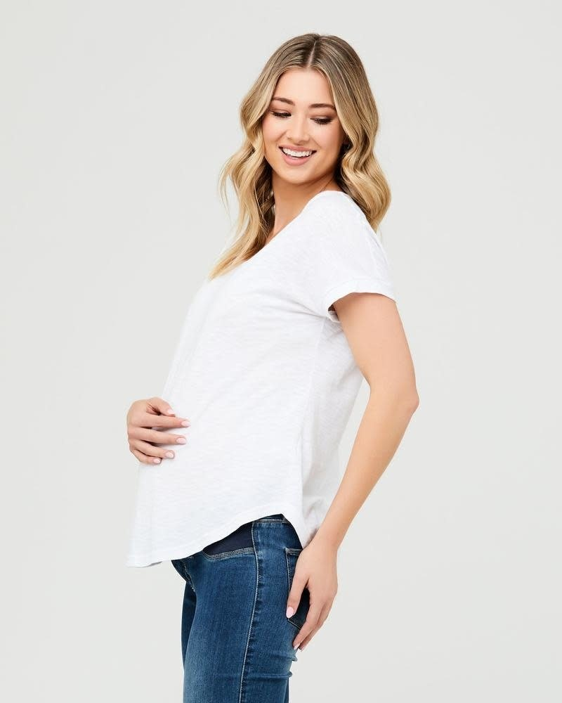 Ripe Ripe Maternity White 'Jaiden' Tee