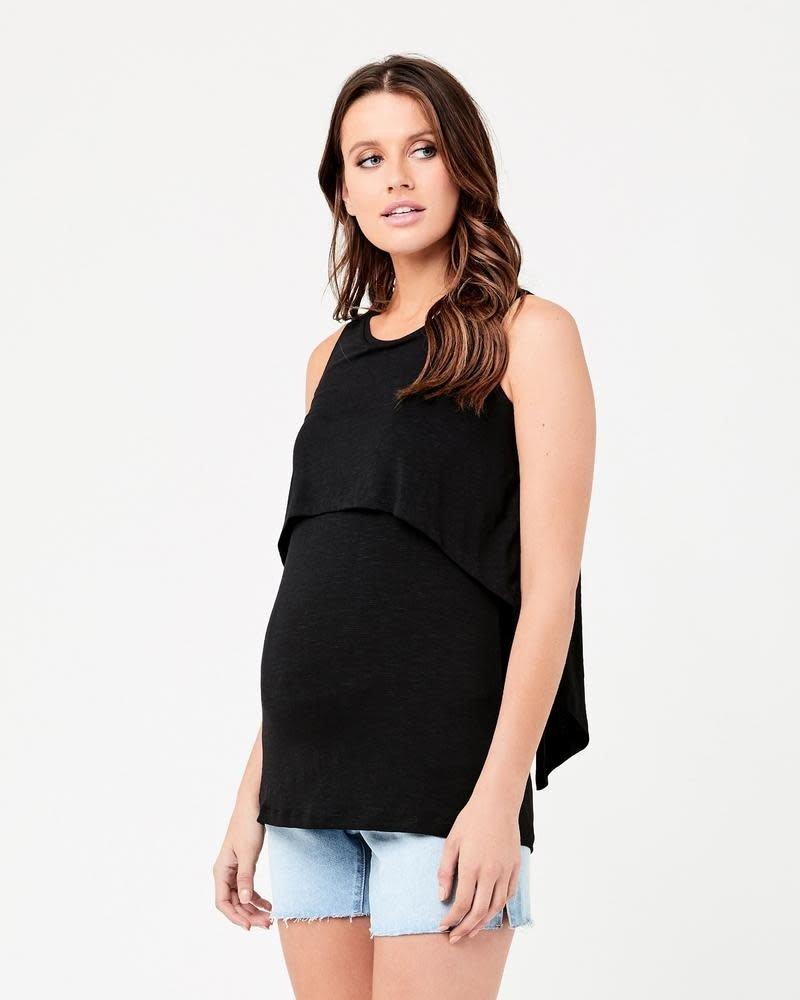 Ripe Ripe Maternity Black Summer Swing Back Nursing Tank