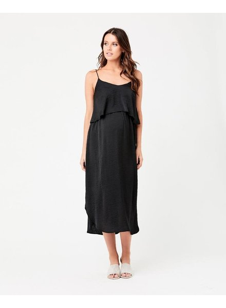 Ripe Black Nursing Slip Dress