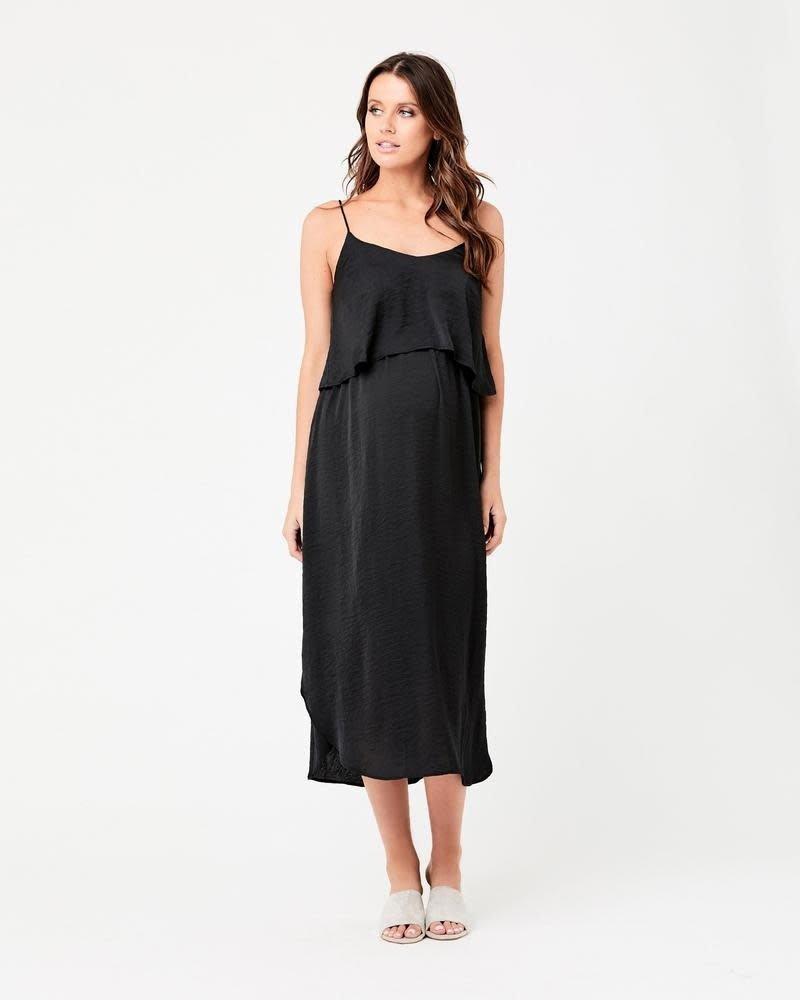 Ripe Ripe Maternity Black Nursing Slip Dress