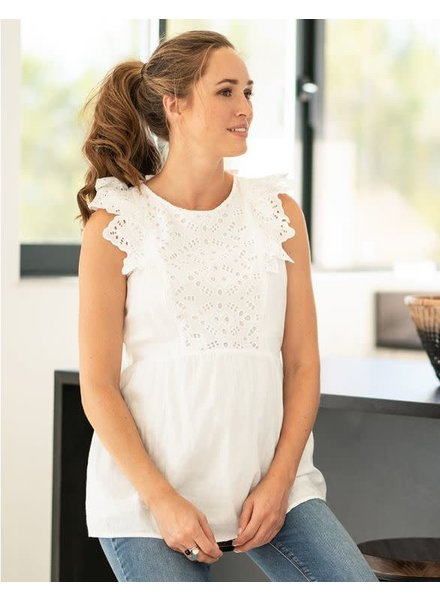 Seraphine Maternity 'Abigail' Broderie Anglaise Nursing Top