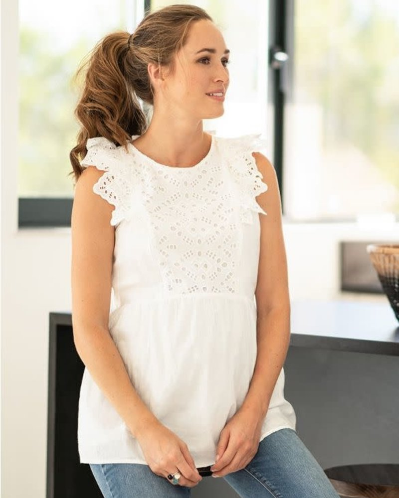 Seraphine Maternity Seraphine Maternity 'Abigail' Broderie Anglaise Nursing Top